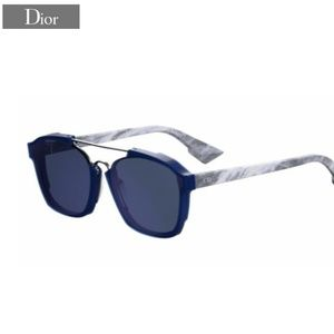 """DIOR """"Abstract"""" Blue w/Grey Marble"""